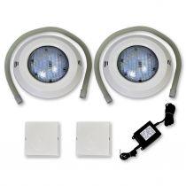 Einbau Scheinwerfer Set 9 LED SMD RGB 15 Watt