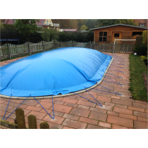 "Aufblasbare Pool Abdeckplane ""AirCover"" achtform"