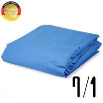 Pool Folie rund Stärke 0,8 mm adriablau