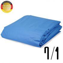 Pool Folie achtform Stärke 0,8 mm adriablau