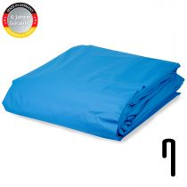 Pool Folie achtform Stärke 0,6 mm adriablau