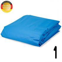 Pool Folie rechteck Stärke 0,8 mm adriablau