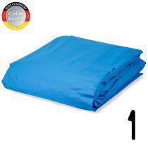 Pool Folie rechteck Stärke 0,6 mm adriablau