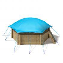 "Aufblasbare Pool Abdeckplane ""AirCover"" für Holzpools"