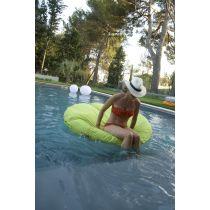 Exklusive Schwimminsel mit Bezug grün (G286)
