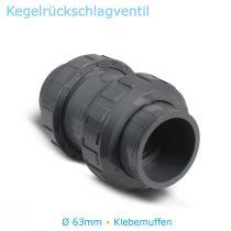 PVC Fitting Kegelrückschlagventil Ø 63mm