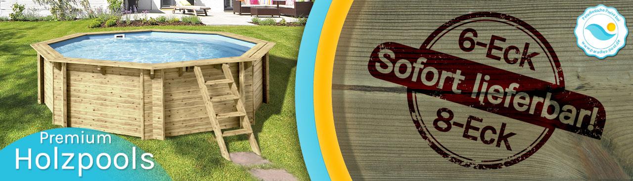 Holz-Pools bei Paradies Pool